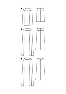Burda 12 2015 #115 sequin maxi skirt  line drawing from Burdastyle.com