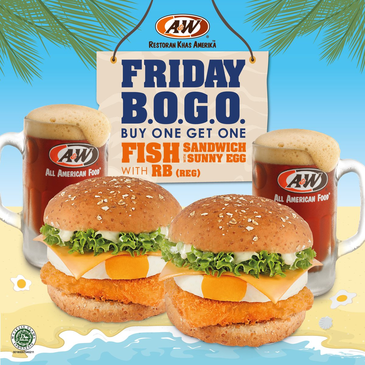 A&W - Promo Buy 1 Get 1 Fish Sandwich With Sunny Egg & RB