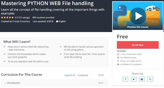 [100% Free] Mastering PYTHON WEB File handling