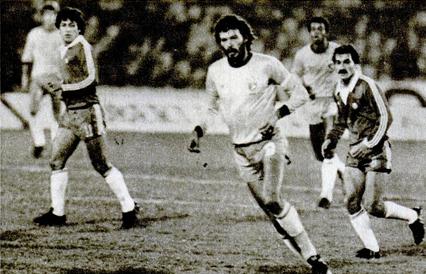 Chile y Brasil en partido amistoso, 28 de julio de 1983