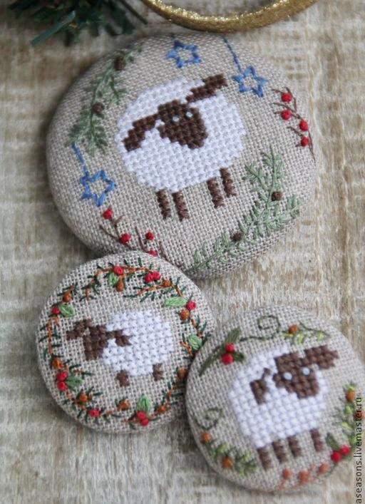 wzory haftowanych guzikow