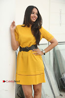 Actress Poojitha Stills in Yellow Short Dress at Darshakudu Movie Teaser Launch .COM 0149.JPG