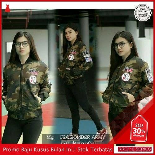 RRC112U48 Usa Terbaru Bomber Army Despo Wanita Terbaru BMGShop