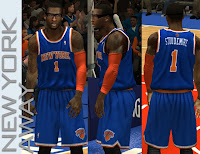 NBA 2K13 Knicks Away Jersey Fix (Real Blue Color)