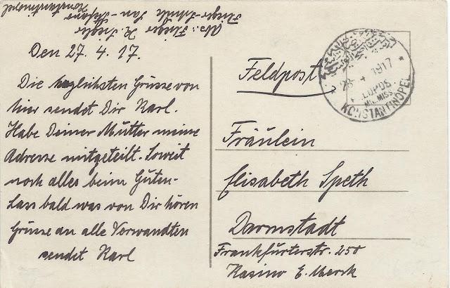 Yeşilköy uçuş okulundan gönderilmiş kartpostal