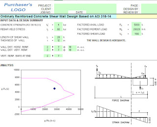 Shear Wall Design And Analysis Excel Sheet