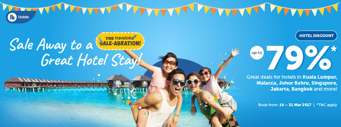 Traveloka Sale-abration - Flight Hotel Diskaun Sehingga 79%