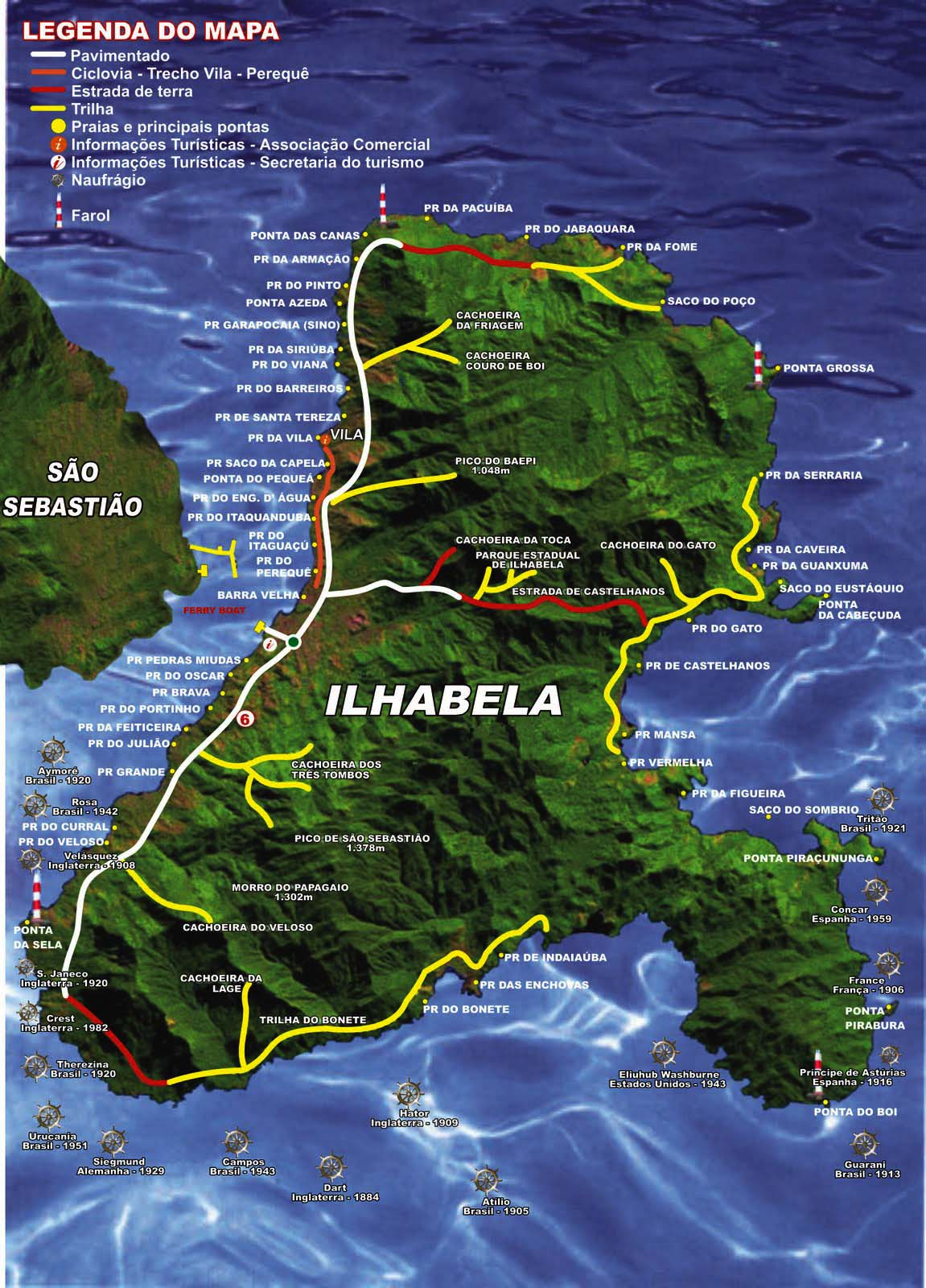 Mapas de Ilhabela