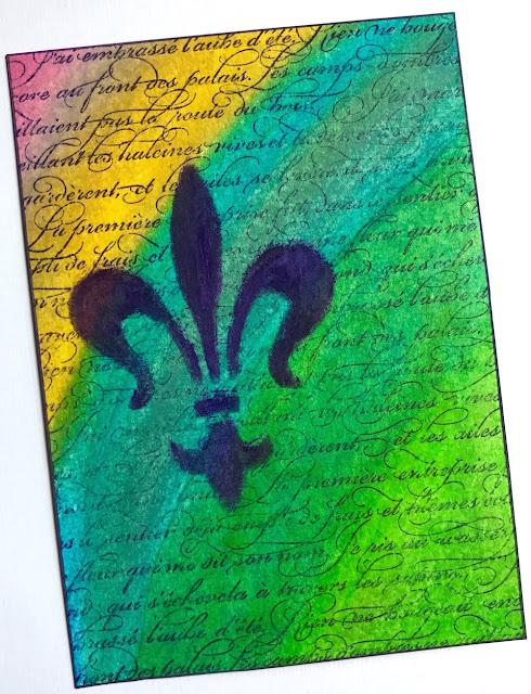 lisa fulmer french greeting card art crayons