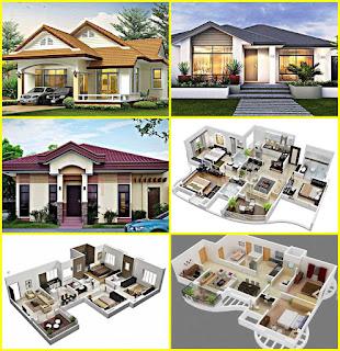 Contoh Denah dan Desain Rumah Type 60