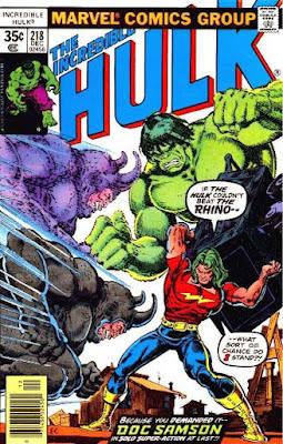 Incredible Hulk #218, Doc Samson vs the Rhino