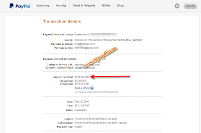 اتبات دفع جديد بقيمة 192 $ دولار من افضل بديل ل ادسنس Adsense