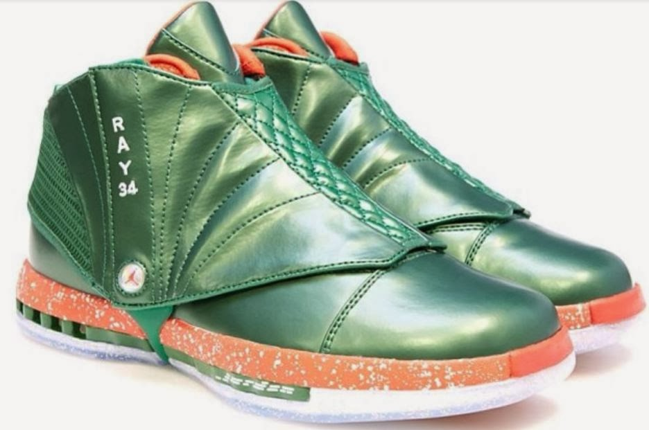 12bc4a6b21b THE SNEAKER ADDICT  Air Jordan Ray Allen Christmas 16 PE Sneaker ...