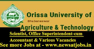 ouat-97-Scientist-Office-Superintendent-cum-Accountant-Posts-Vacancies