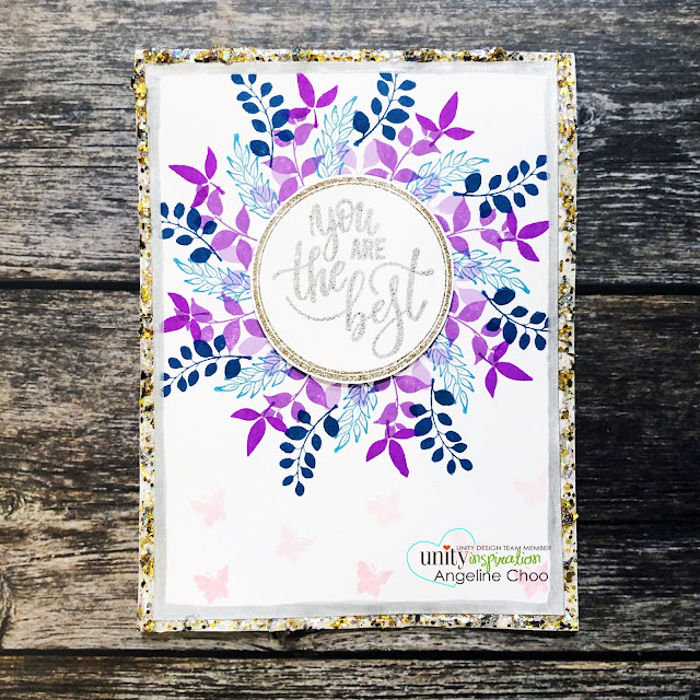 ScrappyScrappy: Unity Stamp & Gina K Wreath Builders #scrappyscrappy #unitystampco #ginakdesigns #wreathbuilder #card #cardmaking #altenewdyeink #altenew #wreath #glitterificpaint
