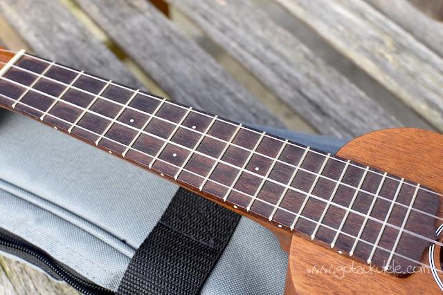 Martin S1 Soprano Ukulele fingerboard