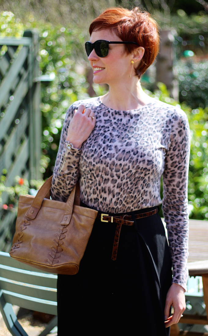 Fake Fabulous | Black palazzo trousers and leopard print