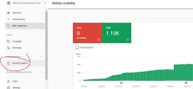 mobile usability halaman webmaster