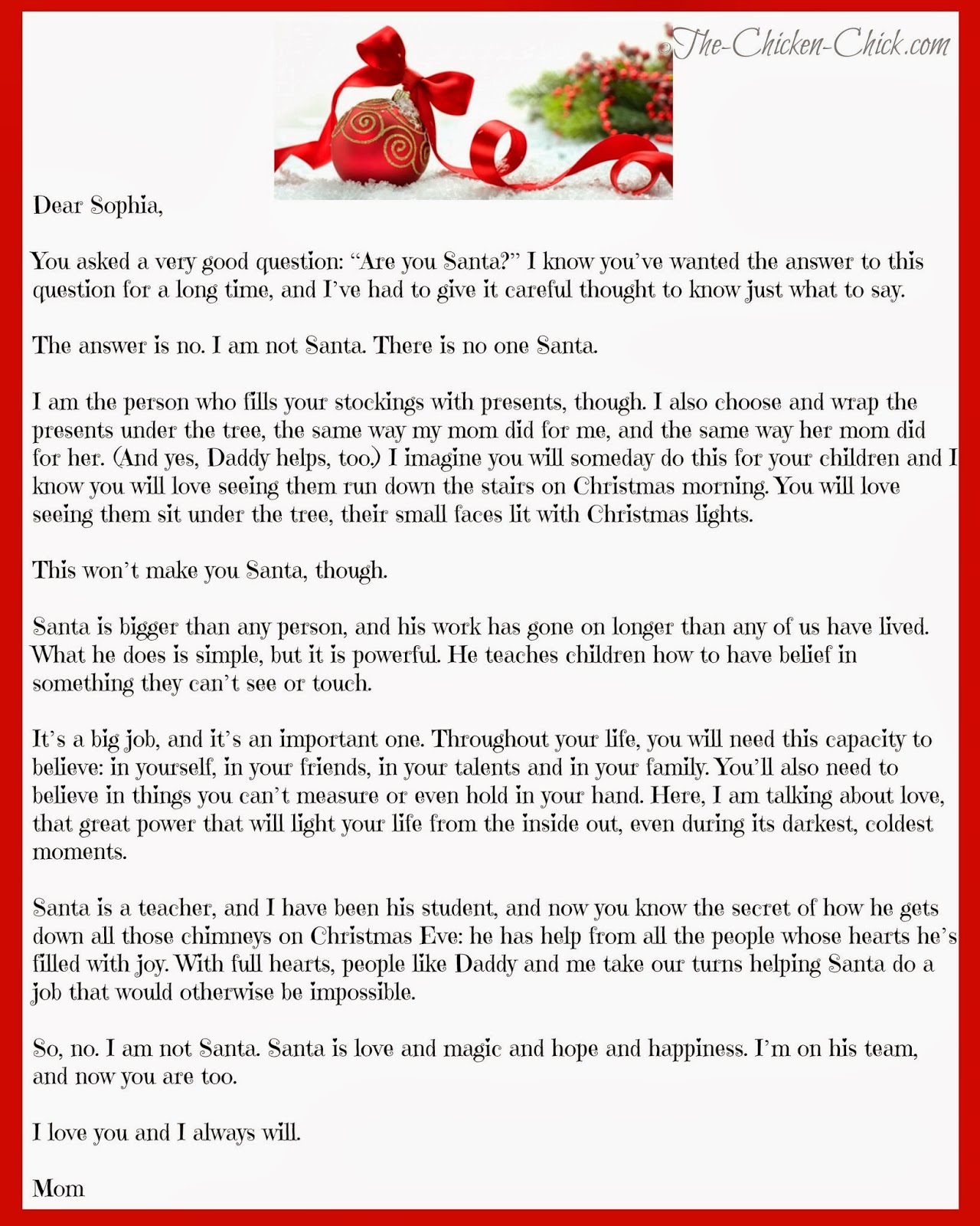 letter about santa claus quot how can santa be real quot the about santa the 9900