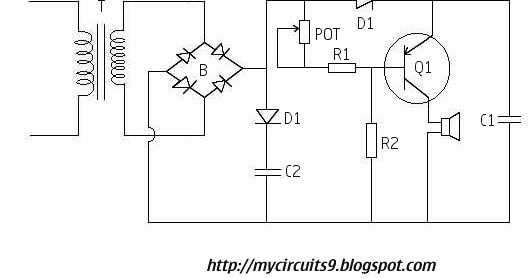 power supply failure alarm circuit without battery backup