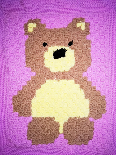 Customizable Teddy Bear Blanket for baby girl/boy Crochet | Etsy | 640x480