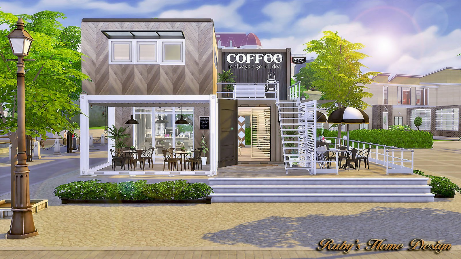 Sims4 Container Coffee Shop No Download Link Rubys