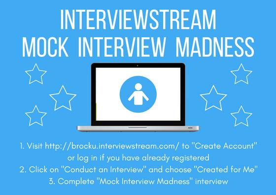 Brock CareerZone Blog: InterviewStream Mock Interview
