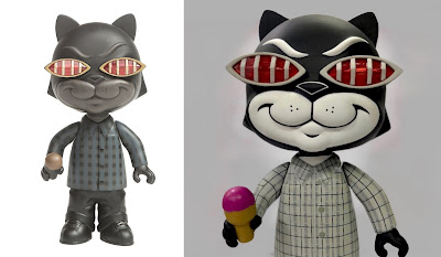 Bronson Black Edition & Grey Edition Vinyl Figures by Mister Cartoon x The Hundreds