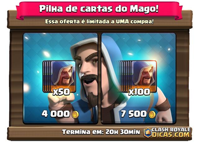 Oferta de cartas loja Clash Royale - Pilhas de cartas do Mago