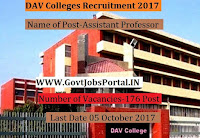 DAV College Recruitment 2017- Assistant Professor