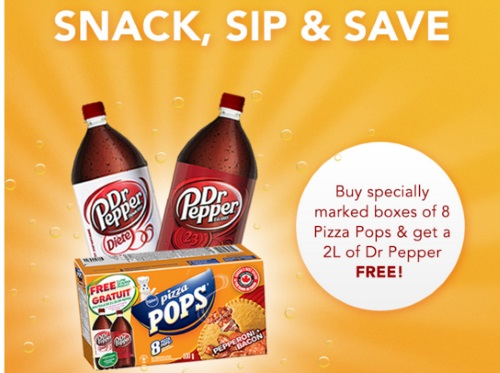 Pillsbury Pizza Pops Promo Free Dr. Pepper Coupon