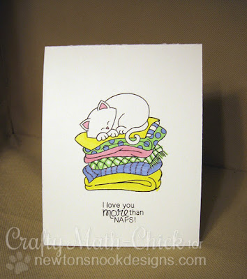 Inside of Newton kitty window card by Crafty Math Chick | Newton's Naptime by Newton's Nook Designs