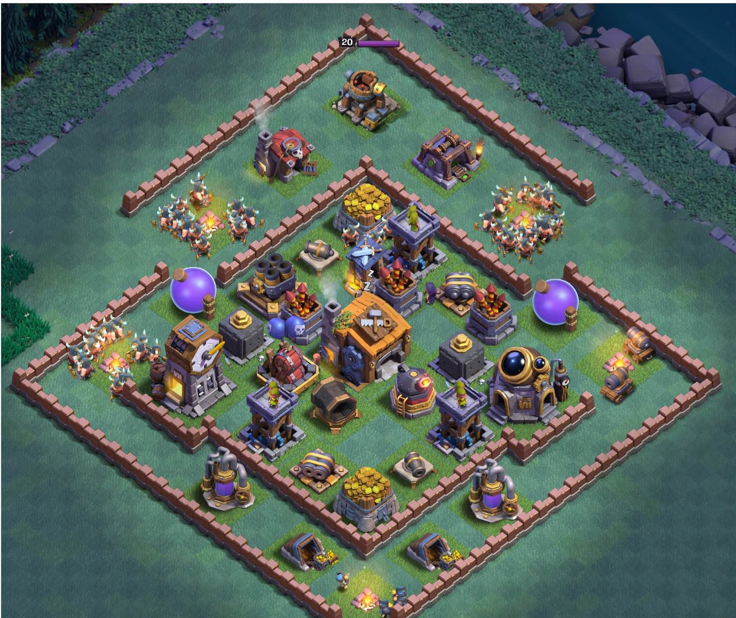 9 Best Builder Hall 7 Bases Layouts For Feb 2018 Anti 2