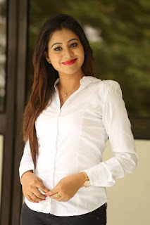 Manali Rathod in a White Shirt and Denim Jeans at O Sthree Repu Raa Movie press meet