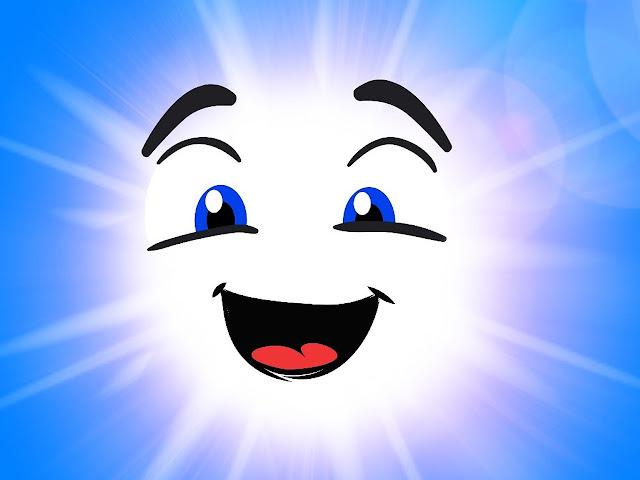 Ilustrasi gambar Matahari tersenyum