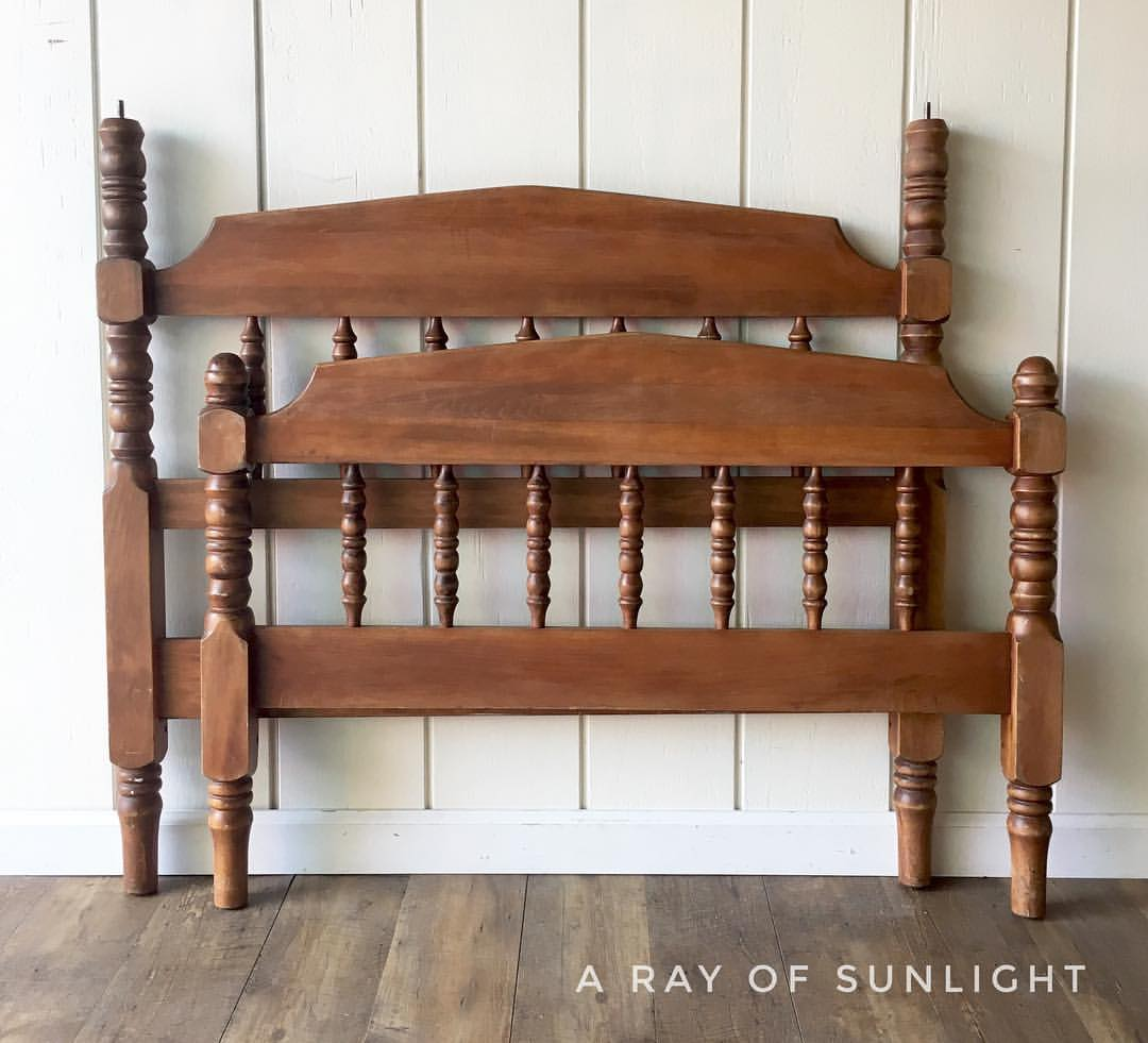 Vintage head board and foot board makeover