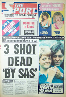 Cover page of the Sport newspaper from 31 Aug 88