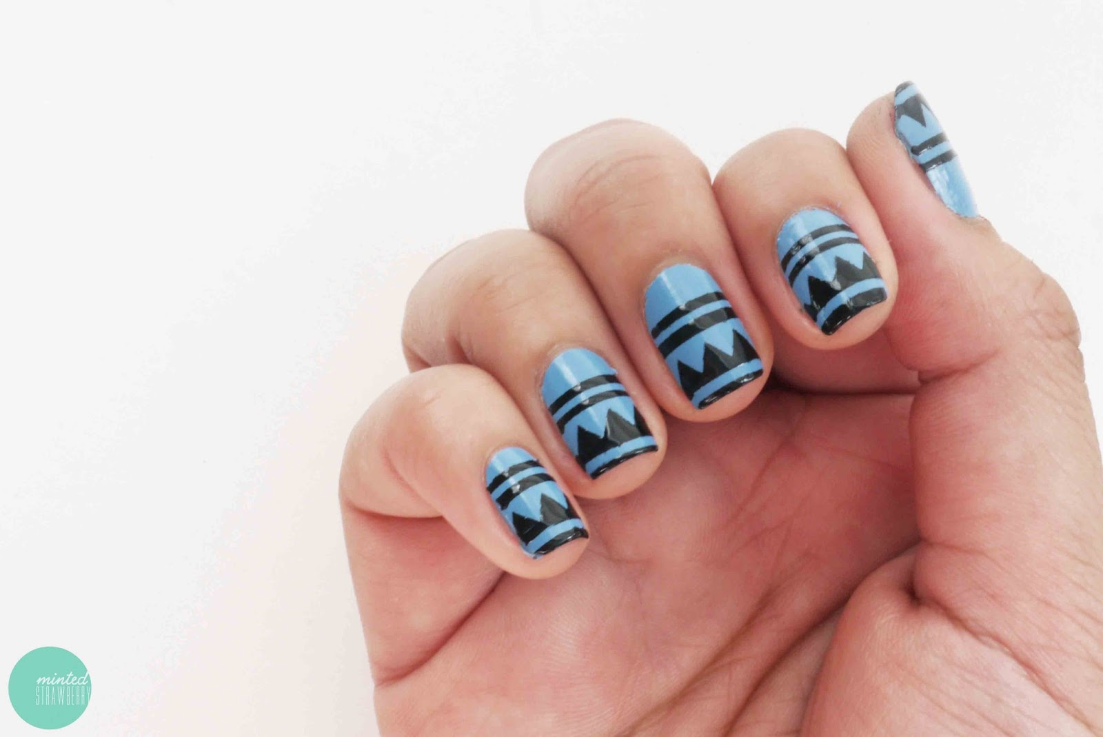Nail Polish: Aztec Nail Art Stencils - Minted Strawberry