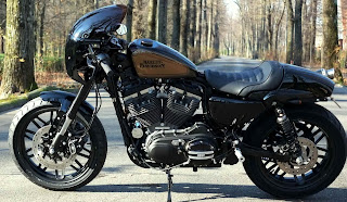 sportster 1200 roadster black rain xlcr style by hd speed shop