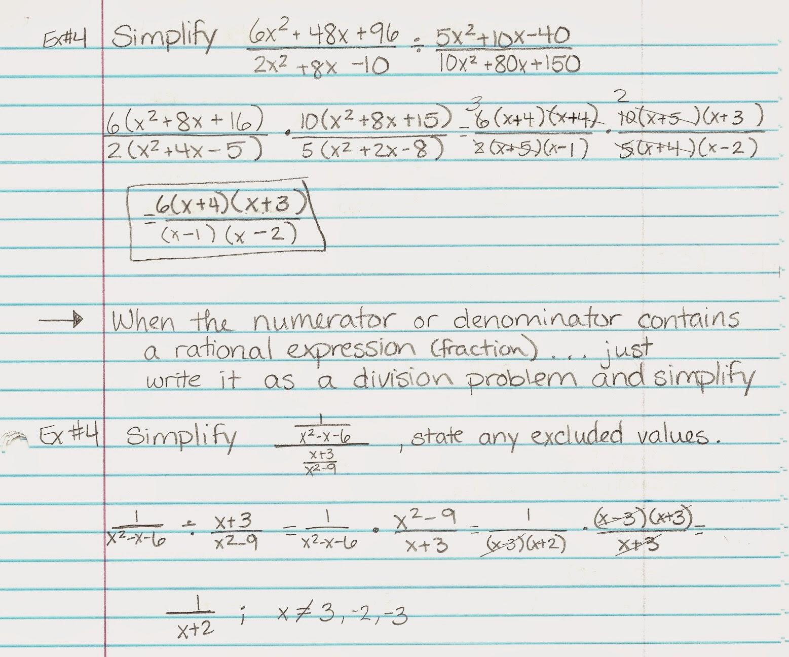 Algebra Alerts Algebra 1 And 2 Alg 2 Lesson 9 2 Notes