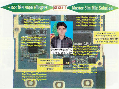 Samsung C6112 Master SIM MIC Solution By BuntyGSM Mobile