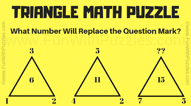 Can you find the value of the missing number in this Triangle Math Puzzle?
