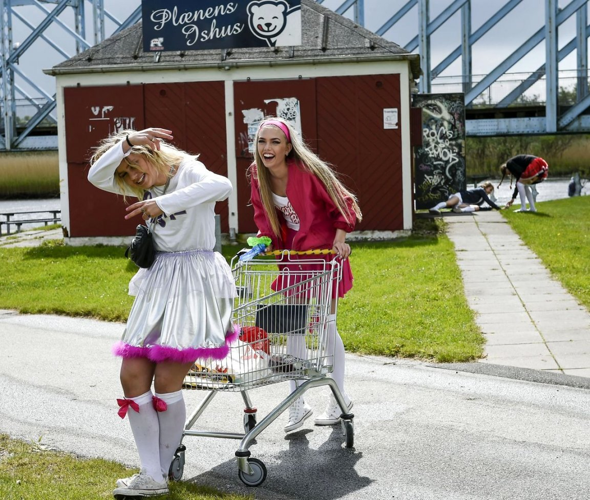 sidste skoledag kostume cheerleader