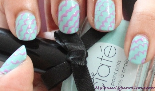 Pastel spring nail art with Ciate Pepperminty nail polish
