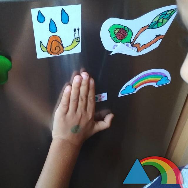 Imanes para nevera dibujados por un niño