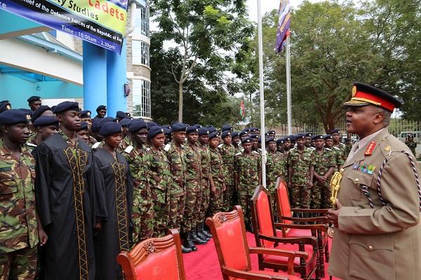 Image result for President Kenyatta commends KDF for modern training methods