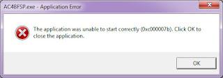 Cara Mengatasi Error 0xc000007b di windows 32 bit dan 64 bit