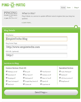 Best sites to use in Pinging your Blog/Website for higher Traffic, strong SEO/better popularity in Search Engines
