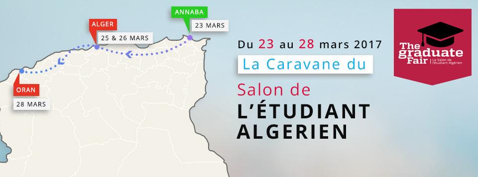Caravane du salon de l 39 tudiant algerien du 23 au 28 mars for Salon l etudiant