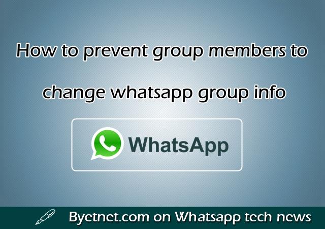 WhatsApp ग्रुप मेंबर को Group Info चेंज करने से कैसे रोके